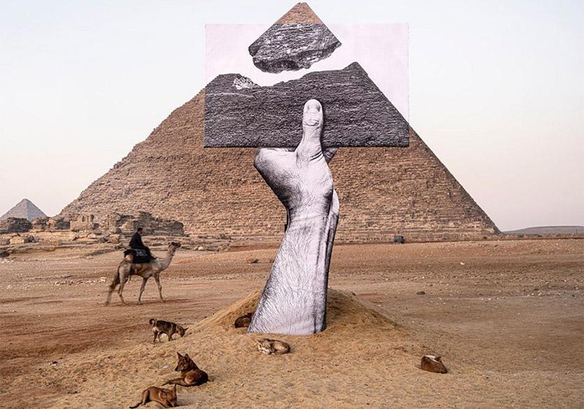 """4500 Yıllık Giza Piramitlerindeki İlk Çağdaş Sanat Sergisi: """"Forever Is Now"""""""
