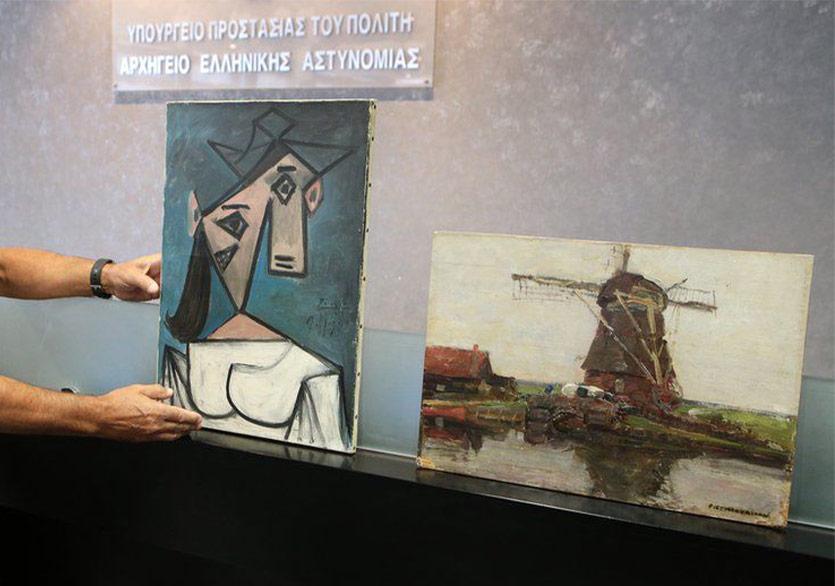 Picasso ve Mondrian'ın Çalınan İki Tablosu Bulundu