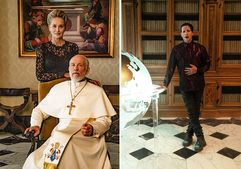 Marilyn Manson ve Sharon Stone The New Pope'a Konuk Olacak