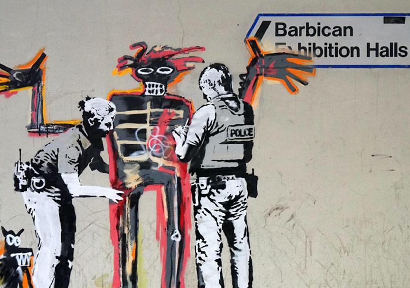 Basquiat Sergisinde Banksy Karşılaması