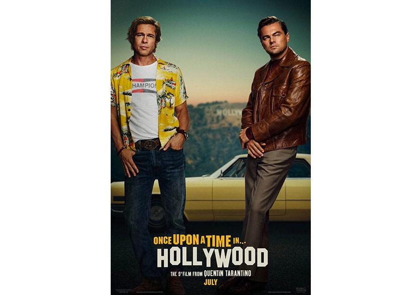 Brad Pitt ve Leonardo DiCaprio'lu Tarantino Filminin Afişi Paylaşıldı