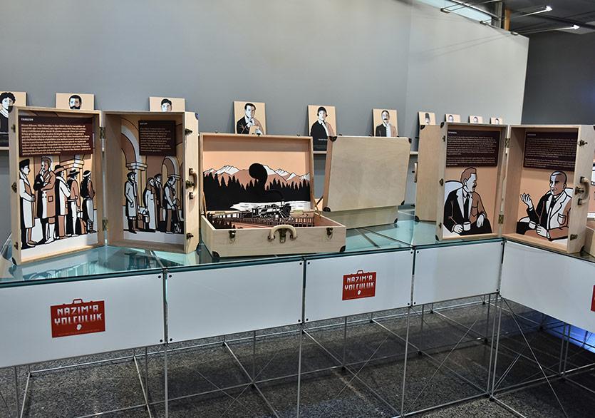 Nâzım'a Yolculuk İş Sanat Kibele Galerisi'nde