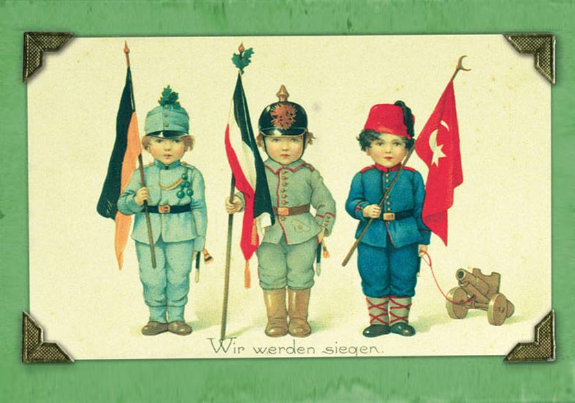 Birinci Dünya Savaşı'na Ait Karikatür ve Kartpostallar