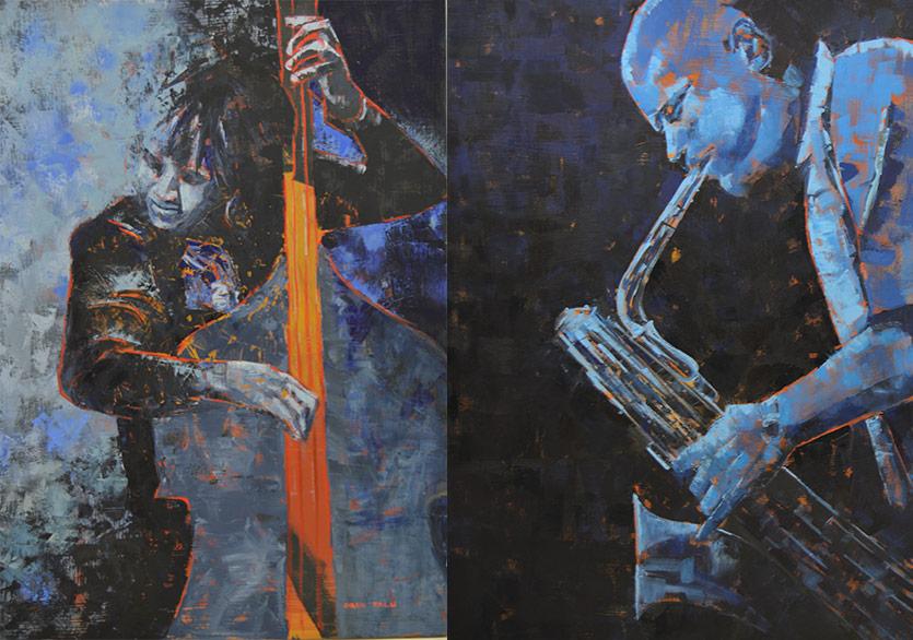 Jazz Müziğin Tuvalle Buluşması