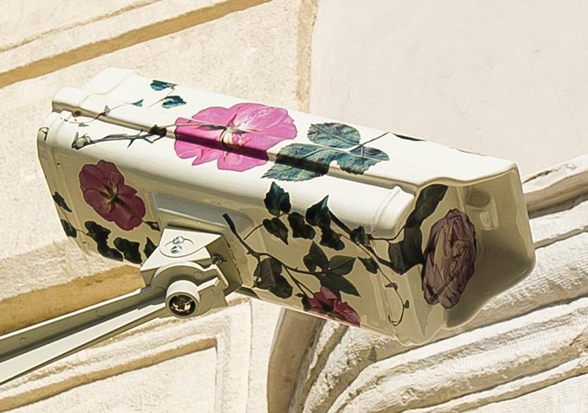 Çiçekli Güvenlik Kameraları İstanbul Sokaklarında
