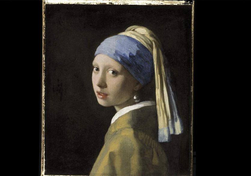 """Vermeer'in """"İnci Küpeli Kız"""" Tablosunun 10 Milyar Piksellik Bir Panoraması"""