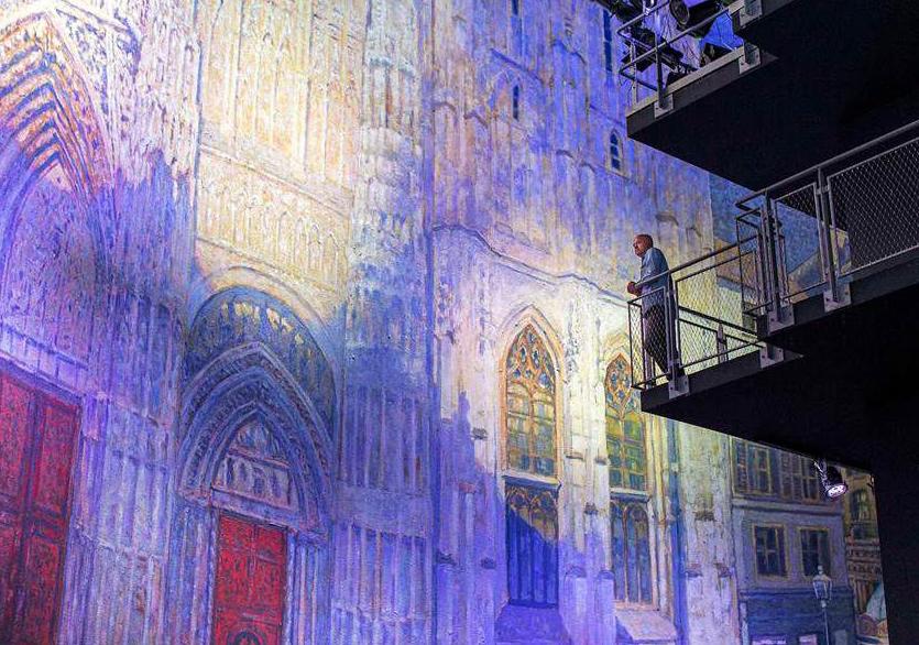 Claude Monet'nin Rouen Katedrali Panoramik Olarak Yansıtılacak