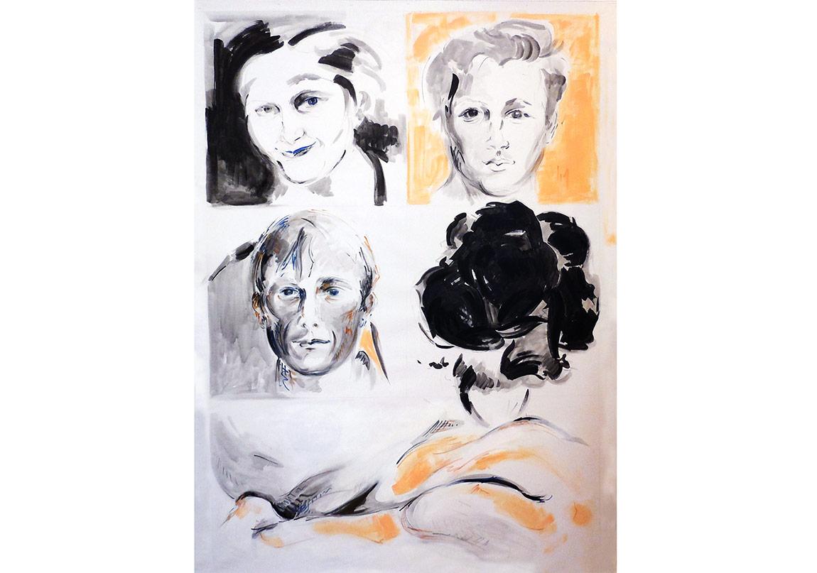 Paris'teki Yüzler Eserlere Yansıyor