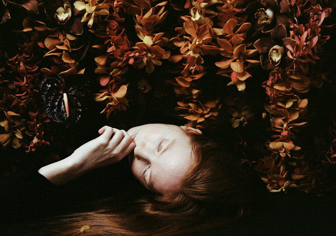 Portrelere Yansıyan Çiçekler
