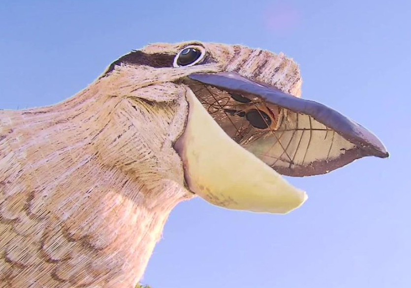 Avustralyalı Sanatçı'dan Dev Kuş Heykeli