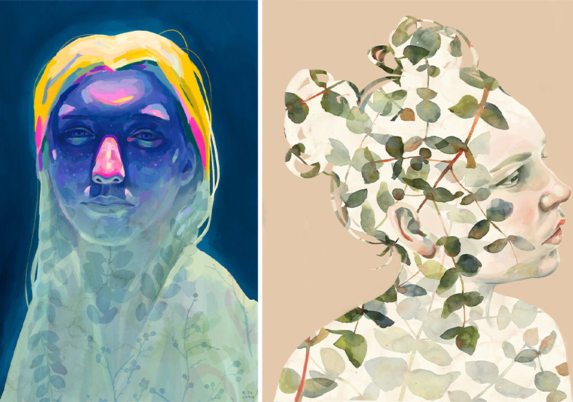 Ruhumuzdaki Doğa Tasvirlerini Açığa Çıkaran Sulu Boya Portreler