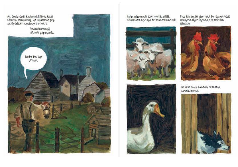 """Çizer Odyr'in Çarpıcı Uyarlamasıyla """"Hayvan Çiftliği"""""""