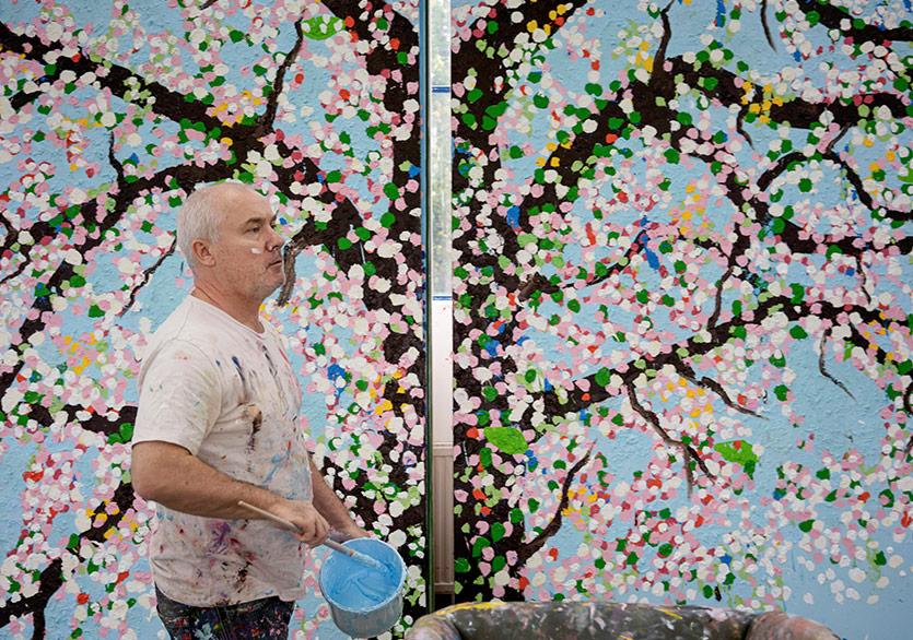 "Damien Hirst'ün Yeni Sergisi ""Cherry Blossoms"" Paris'te"