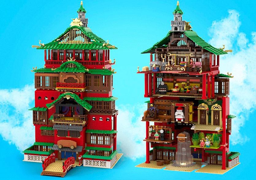 Studio Ghibli'nin Spirited Away'inin Banyosu Bir Lego Seti Olursa