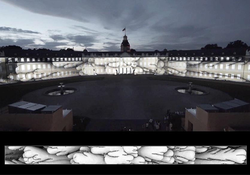 Karlsruhe Kalesi Üzerinde Dijital Işıklar