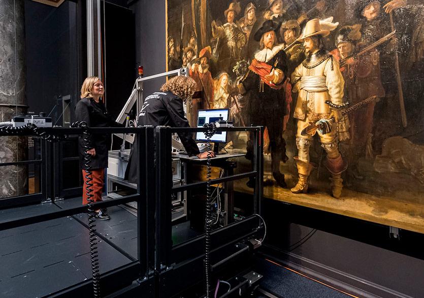 Rembrandt'ın Night Watch'una Halka Açık Restorasyon