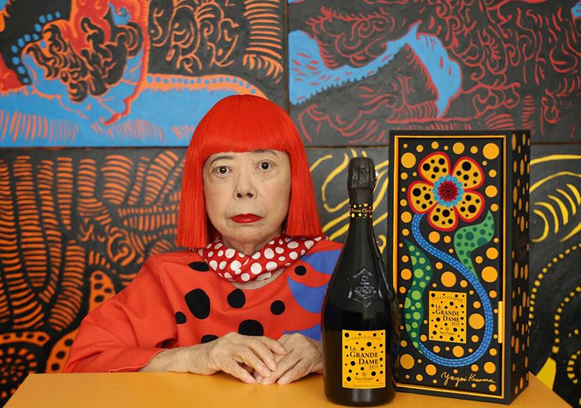 Yayoi Kusama x Veuve Clicquot La Grande Dame'den Şampanya İş Birliği
