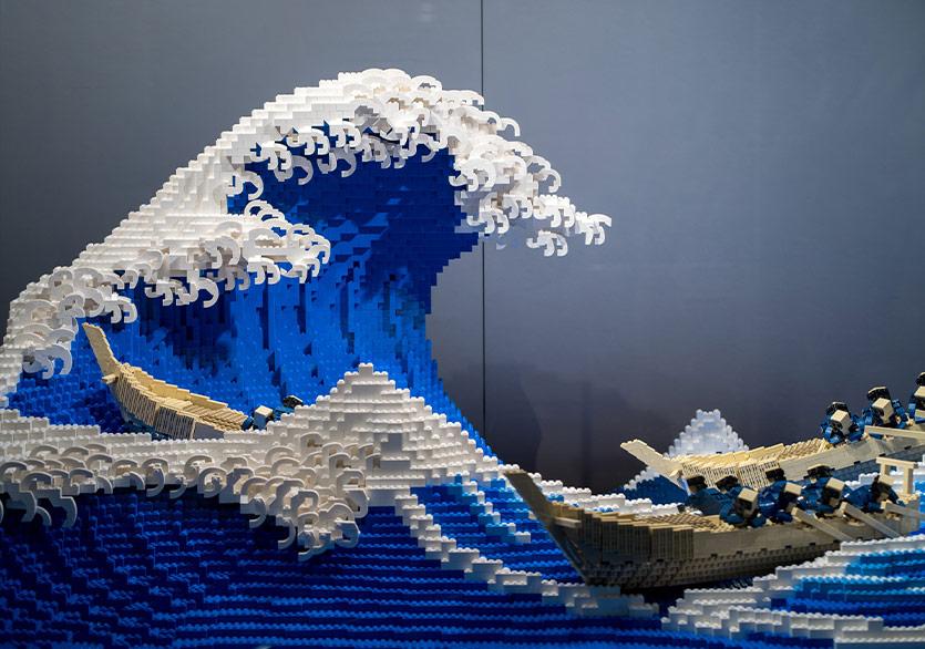 """""""The Great Wave off Kanagawa"""" Eseri Legoya Dönüştü"""