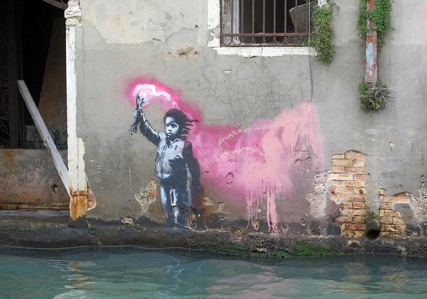 Banksy'nin Venedik Bienali'ndeki Muhtemel Duvar Resmi