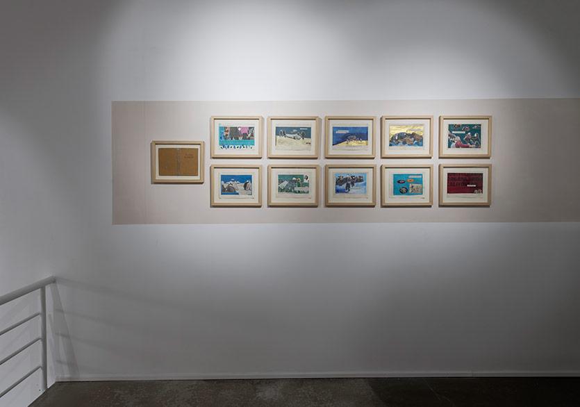 Bengisu Bayrak - Masal Bahçesi serisi, kağıt ve gazete üzerine akrilik ve kolaj 37,5x30 her biri, 2016