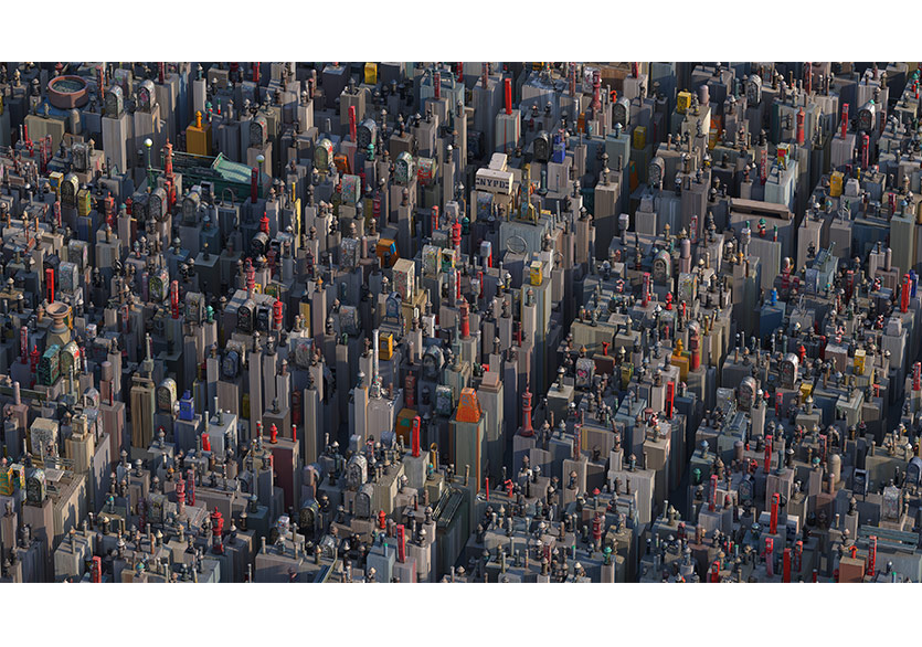 Manhattan 2018 Photogrammetry virtual installation Diasec 150x266cm