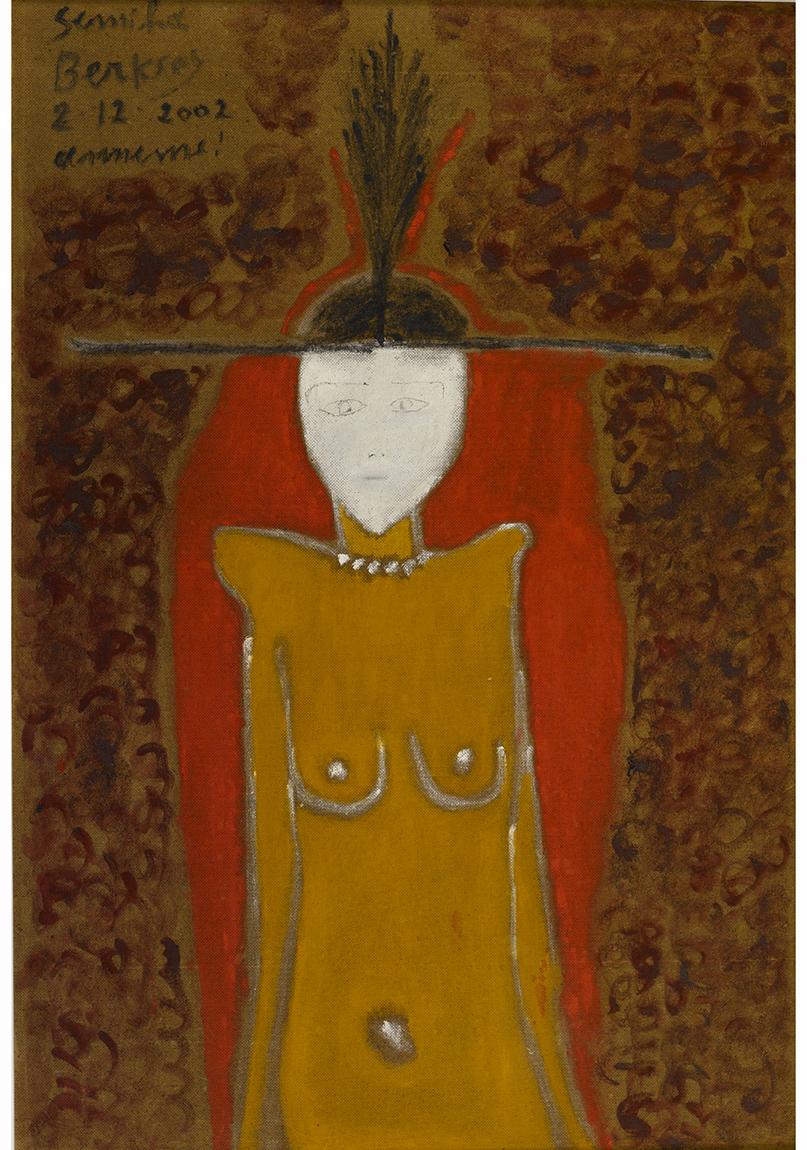 Semiha Berksoy, 'Annem'e Otoportre', 2002, kontraplak üzerine yağlıboya, 112 x 76 cm