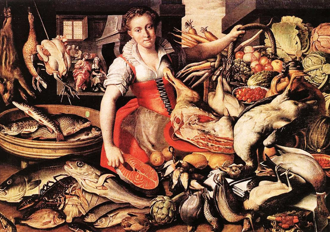 Vincenzo Campi (Italian painter, c 1536 – 1591) The Fishmonger & Christ in the House of Mary and Martha, Galleria Estense (Modena, Italy)