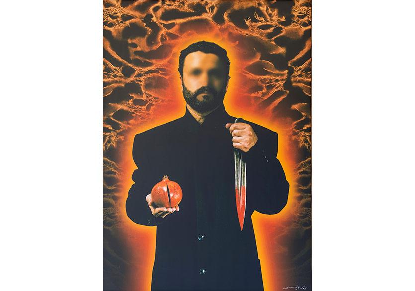 Nar ve Kan (Suret Serisi'nden), 1988 Tuval üzeri dijital baskı, 91x126,5 cm, Tek baskı Digital print on canvas, 91x126,5 cm, Unique