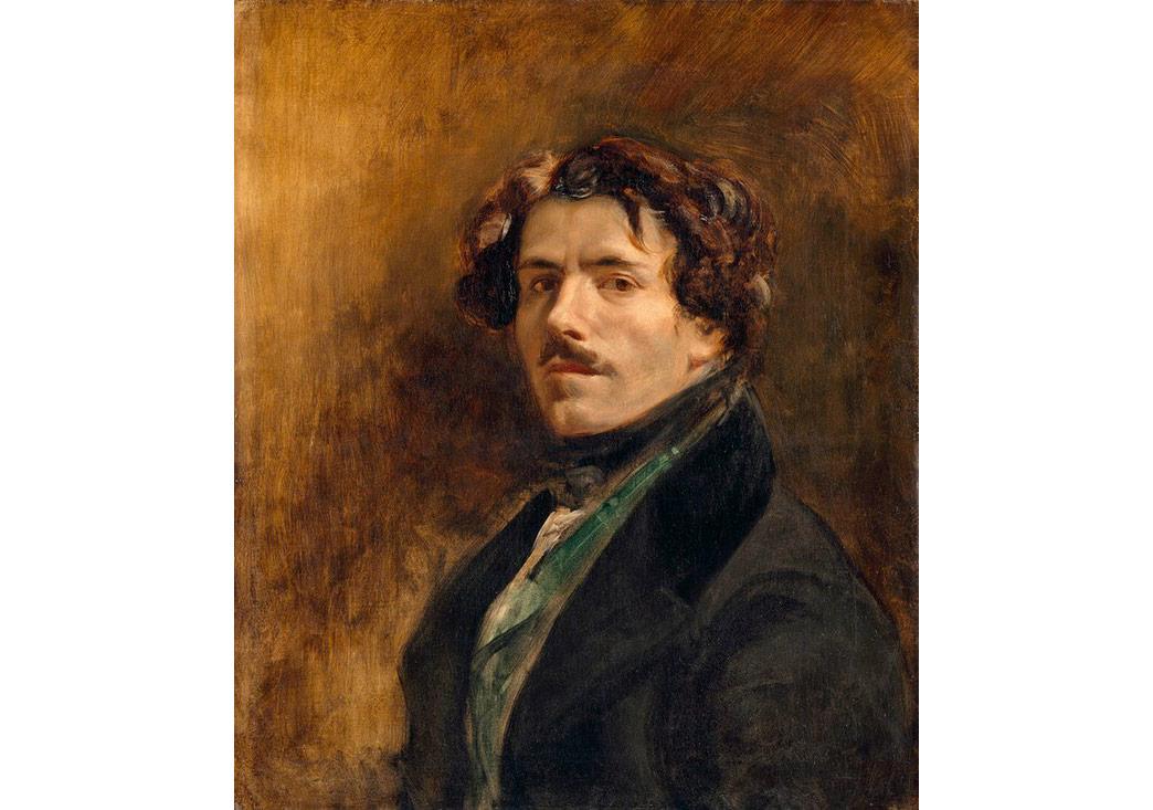 'Both stylish and closed': Self-Portrait, c1837 by Delacroix. Photograph: RMN-Grand Palais (Musée du Louvre)/ Jean-Gilles Berizzi