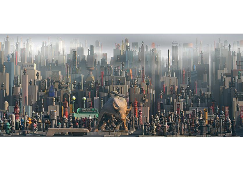 ODDVIZ, Manhattan2, 2018, PhotogrametricVirtualİnstallation, Fine art print, 106x250cm
