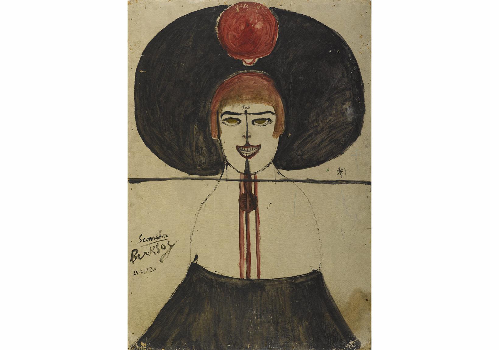 Semiha-Berksoy, Ses, duralit üzerine yağlıboya, 100x70 cm, 1970