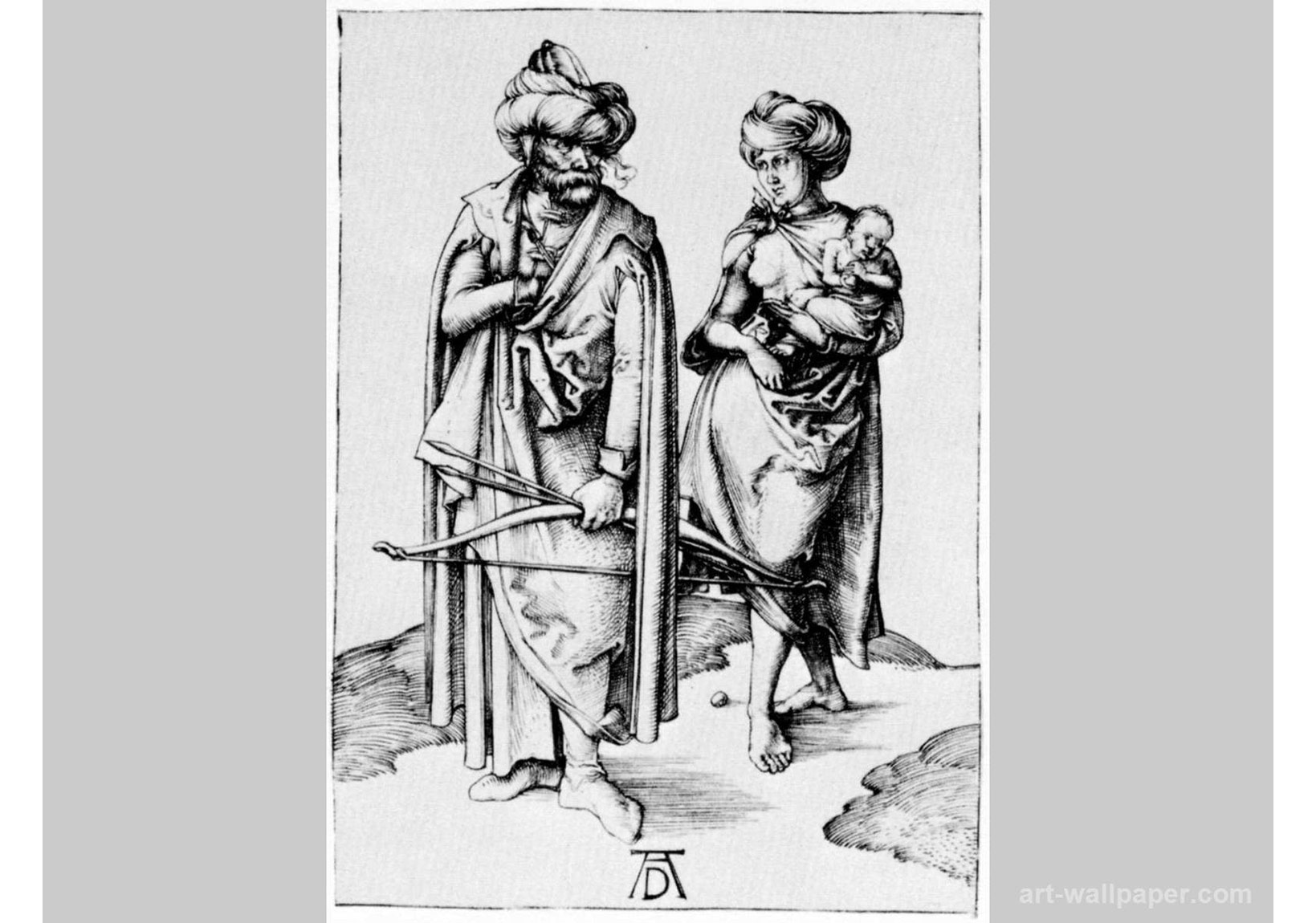 Albrecht Dürer, Bir Türk Ailesi, 1495-96