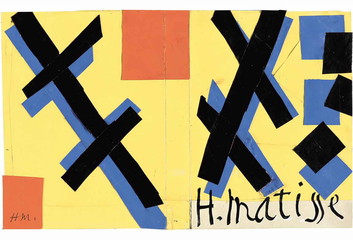 Henri Matisse (1869-1954). Matisse His Art and His Public Kitabı için kapak tasarımı, 1951. Kağıt üzerine guaş boya (27 x 42.9 cm). The Museum of Modern Art, New York. Mrs Simon Guggenheim Fund, 1968. © 2014 Succession H. Matisse / Artists Rights Society (ARS), New York