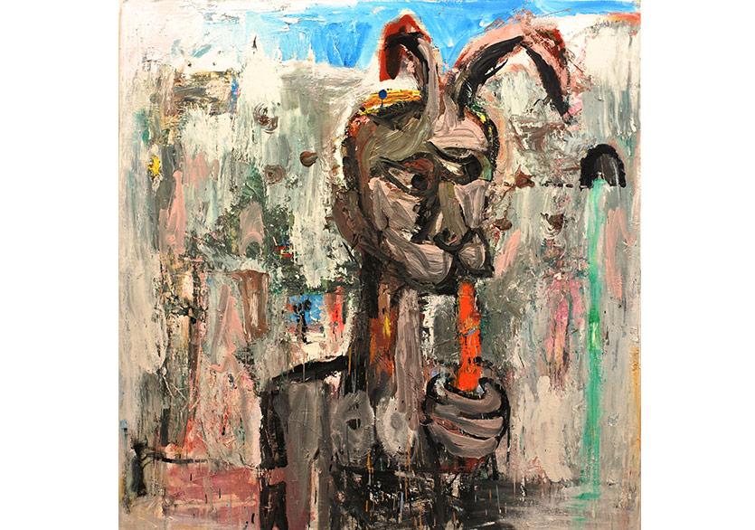 ean Y. Klein — La source nach Courbet I Tuval üzerine yağlı boya %2F Oil on canvas 175 x 170 cm, 2016