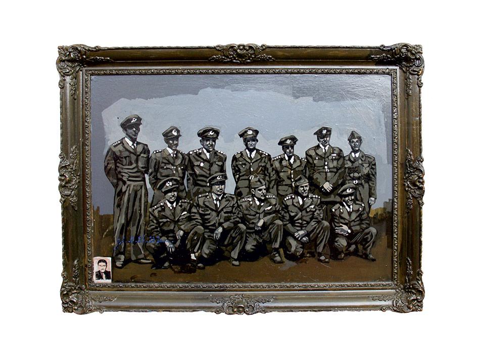 İsimsiz, 80x60 cm, ahşap üzerine karışık teknik, 2013