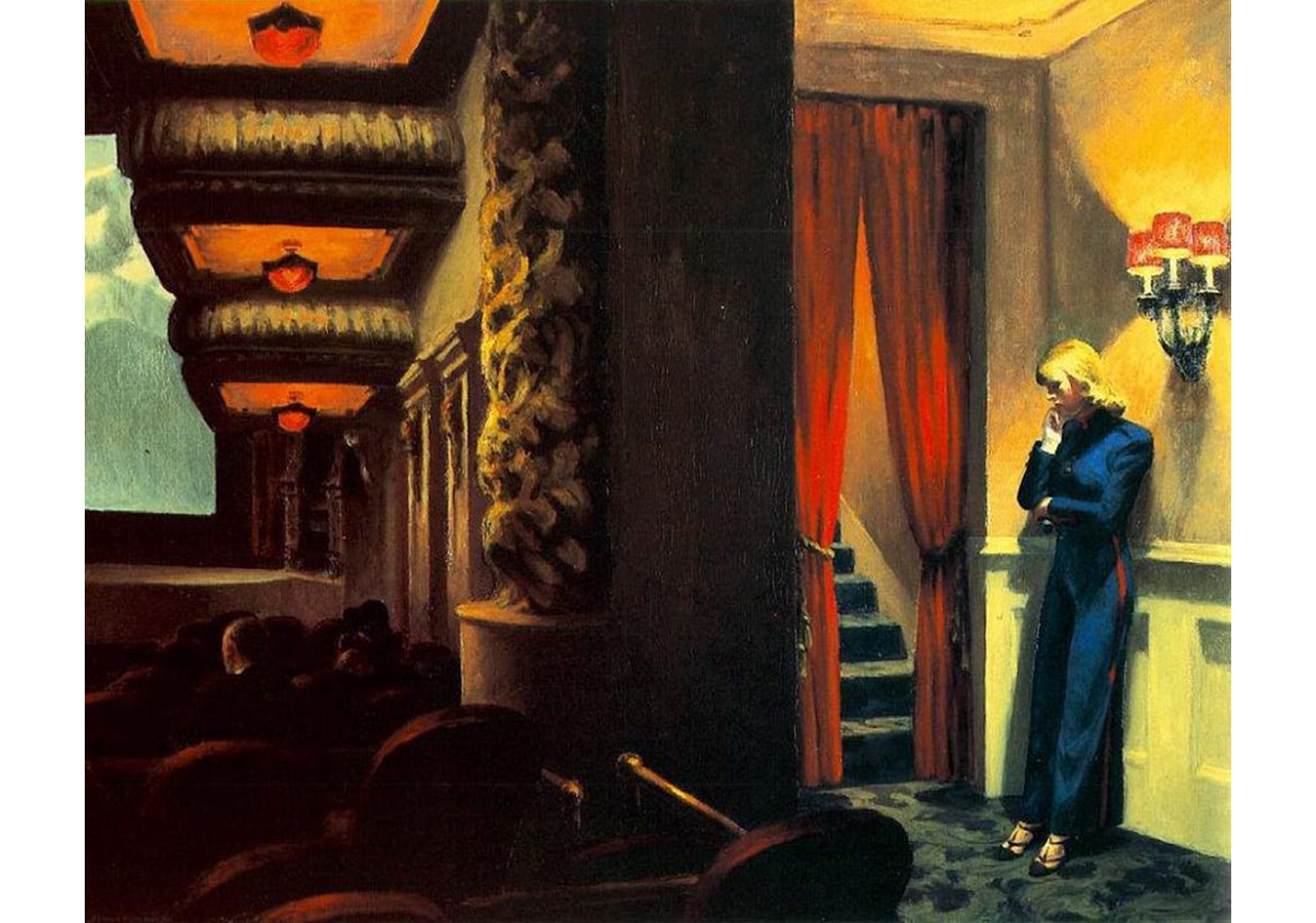 Edward Hopper'ın 1939 yılında yaptığı  'New York Movie' tablosu (http://www.edwardhopper.net/newyork-movie.jsp)