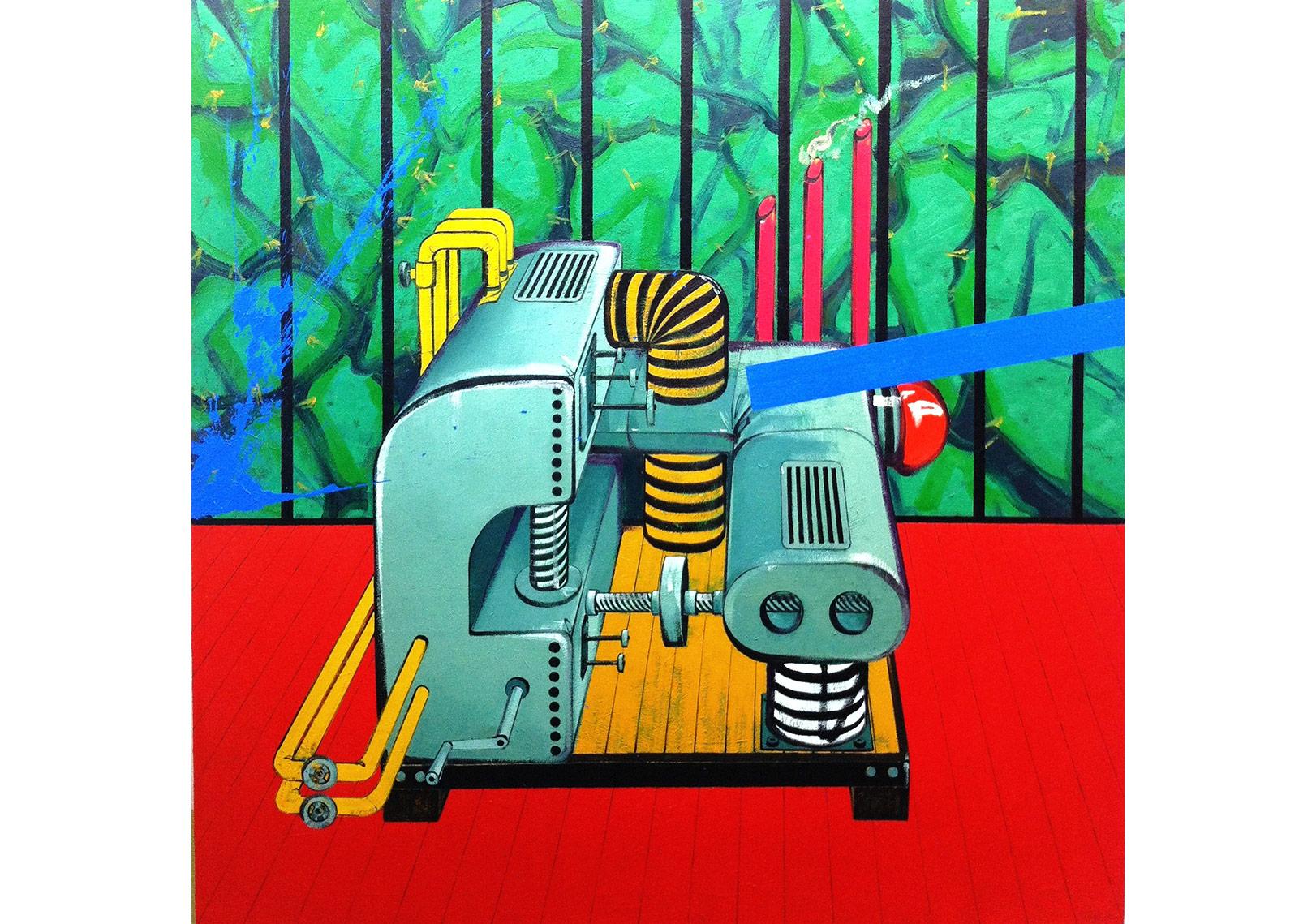 Postmodernizm Makinesi - 190x190 cm - TÜYB - 2013