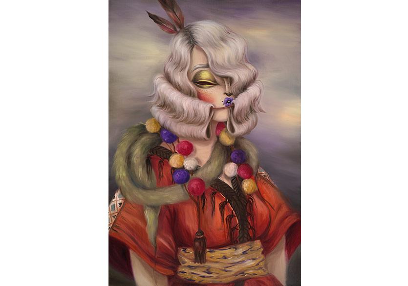 Miss VanGitana II, 2018Oil on canvas,91,5 x 60 cm