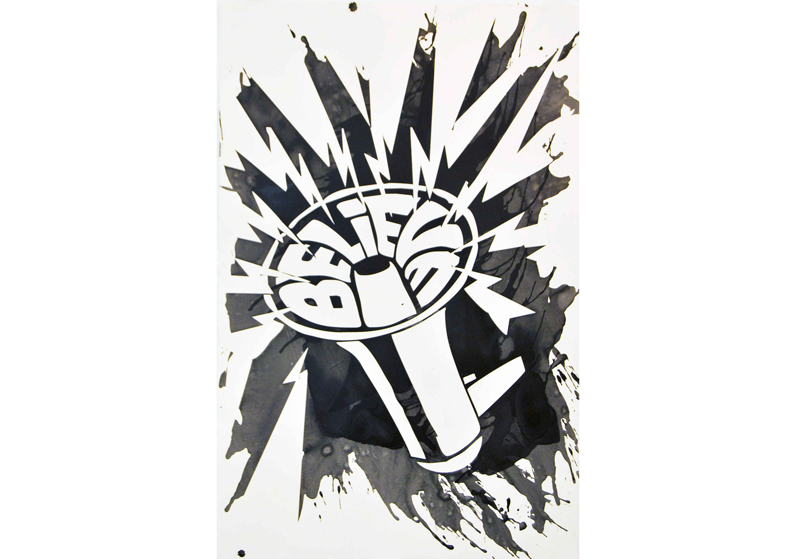 Kannibale (Chemical Brothers) 5, 2007. Ink on paper, 102 x 65,5 cm