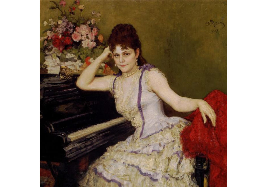An eye for detail: Ilya Repin's portrait of pianist Sophie Menter (detail) CREDIT: STATE TRETYAKOV GALLERY, MOSCOW