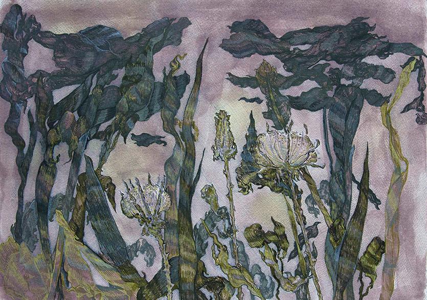 Sadık Arı, isimsiz 2013 kağıt üzerine mürekkep