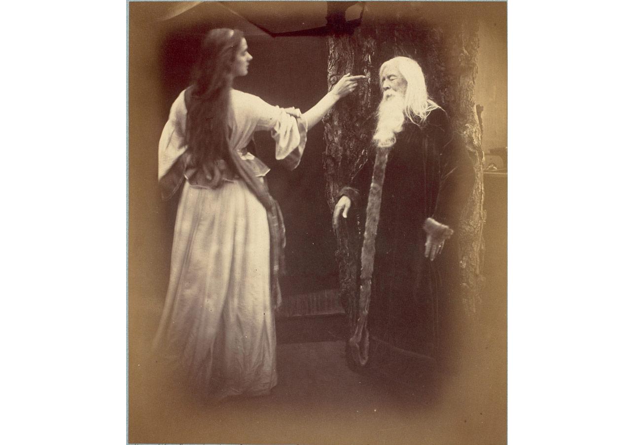 Julia Margaret Cameron (1815-1879), Vivien ve Merlin © Musée d'Orsay, Dist. RMN-Grand Palais / Patrice Schmidt