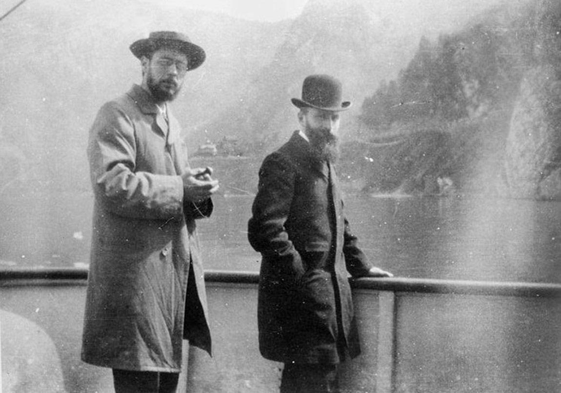 Bonnard and Vuillard on a boat on Lake Como, 1899.