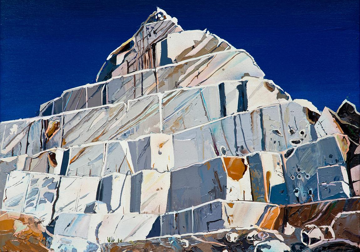 Piramit I,Tuval üzerine yağlıboya, 50 x 65 cm, 2014