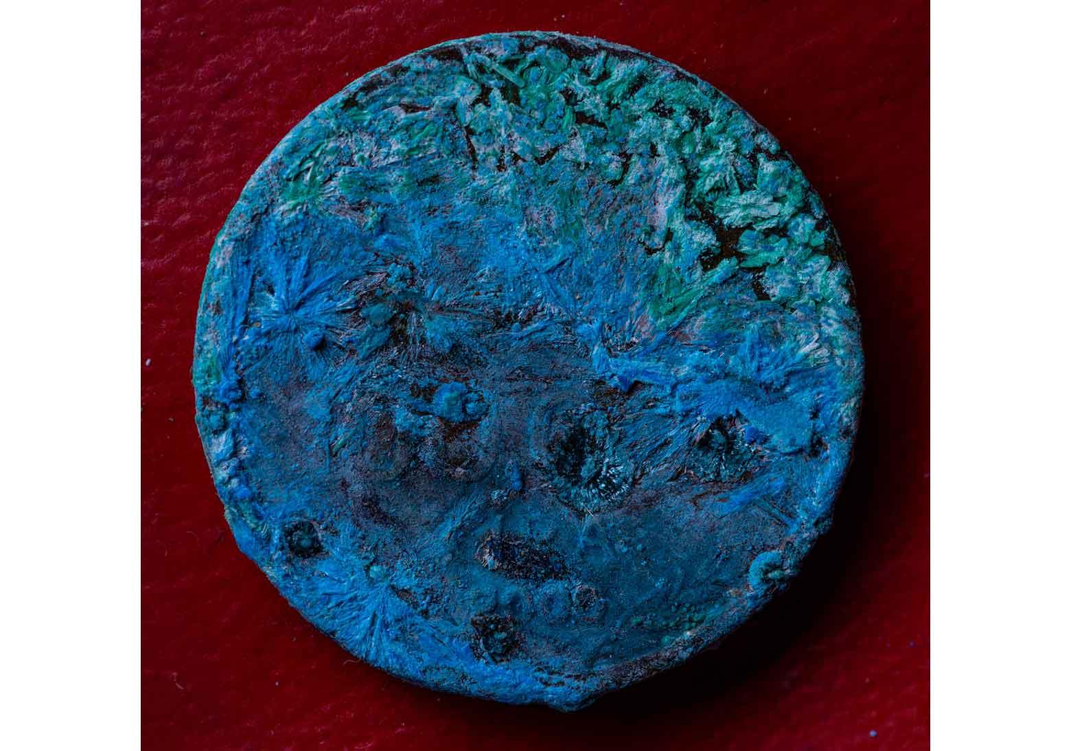 Mavi Para / Blue Coin2016Aluminyum Kompozit Üzerine Hahnemühle Lustre Pigment Baskı