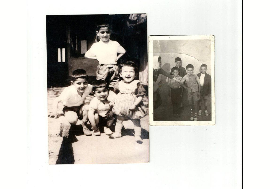 Haydar Ergülen(ayakta) kardeşleri Kemal, Halil ve Ali ile Eskişehir'deki evlerinin bahçesinde, 1962