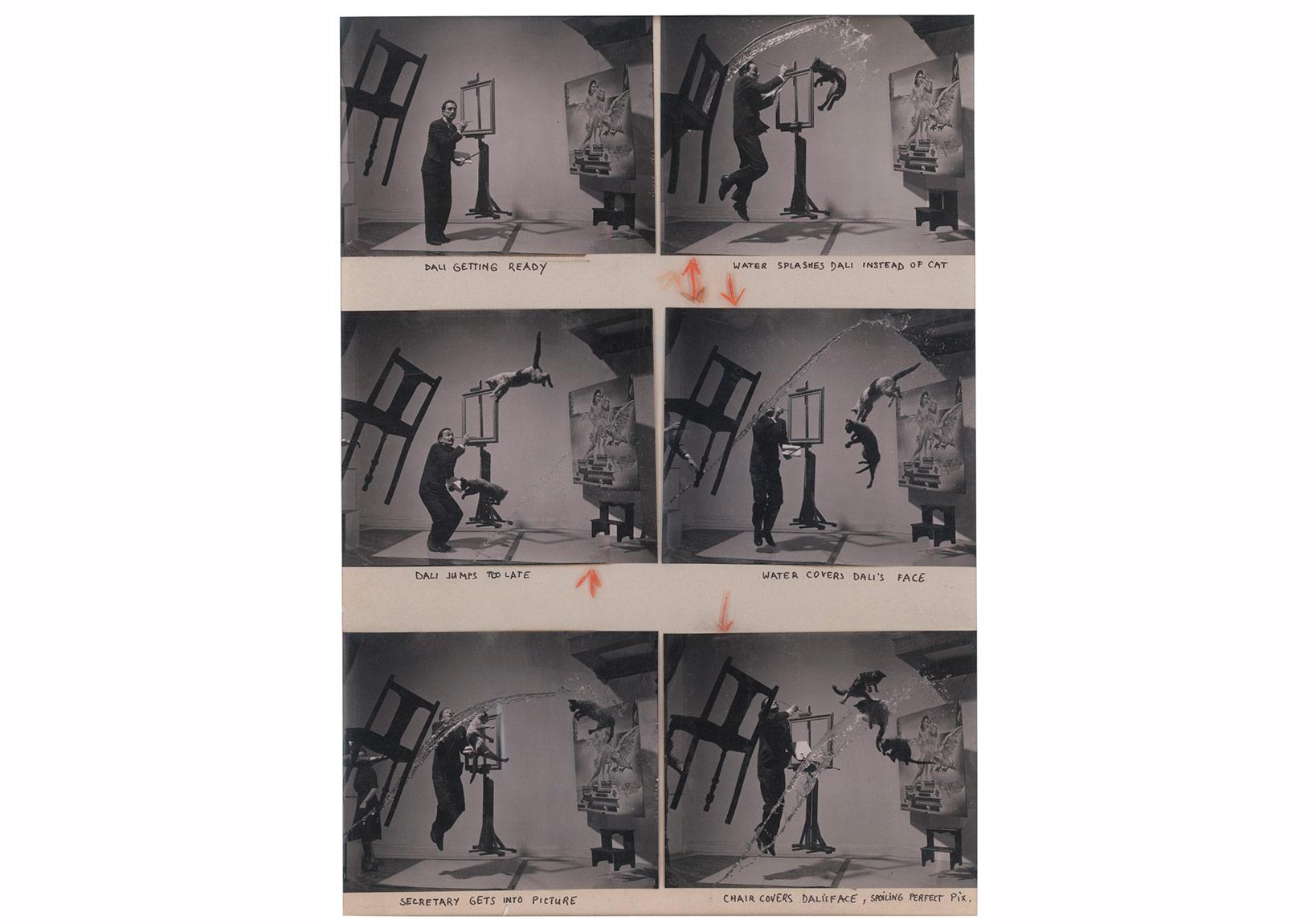 © Philippe Halsman/Magnum Photos,New York, ABD, 1948. Salvador Dali, İspanyol ressam. 'Dali-Atomicus'. Kontakt Baskı