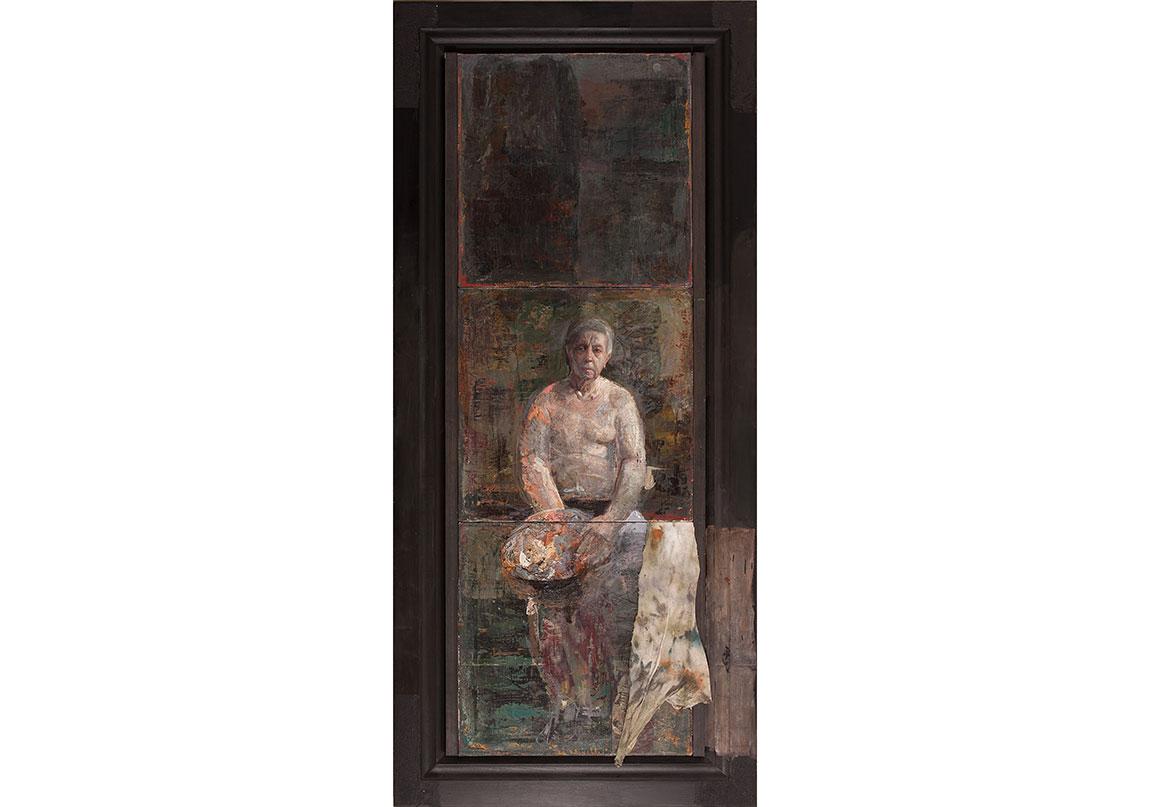 Otoportre (2011) Tuval üzerine yağlıboya, 174 x 78 cm Self-Portrait (2011) Oil on canvas, 174 x 78 cm
