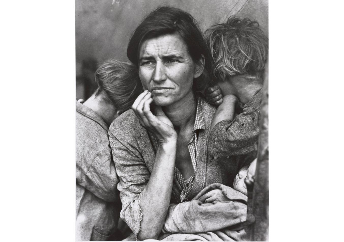 Dorothea Lange (1895-1965), Kaliforniya'da insan erozyonu (Göçmen Anne) © Münchner Stadtmuseum, Sammlung Fotografie © Dorothea Lange Collection, Oakland Museum, Oakland, ABD
