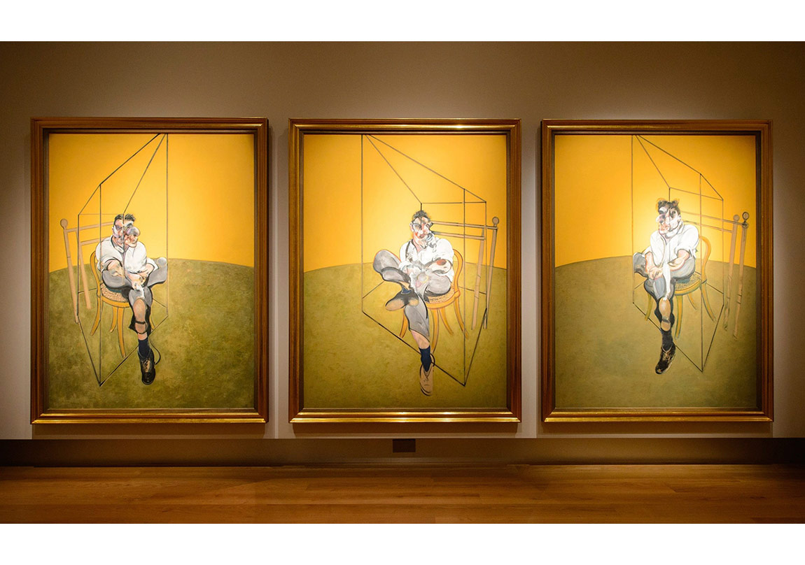Francis Bacon, Lucian Freud'un Üç Eskizi (Three Studies of Lucian Freud), 1969